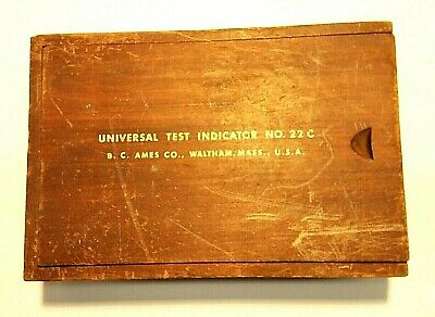 Vintage B.c. Ames Co Universal Test Indicator Set No 22c
