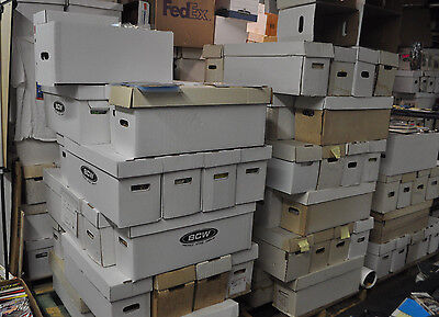 36 BOX PALLET LOT OF MARVEL/DC/VAL/INDY COMICS (250-350 COMICS PER BOX) MODERN