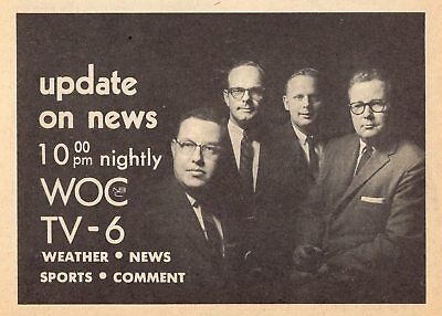 1964 Woc Tv News Ad Davenport Iowa Channel 6 Weather Sports Coment