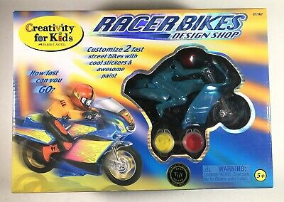 Creativity for Kids 5+ Racer Bikes Design Shop Customize Paint Stickers 2 Bikes! - Kids Shop Design