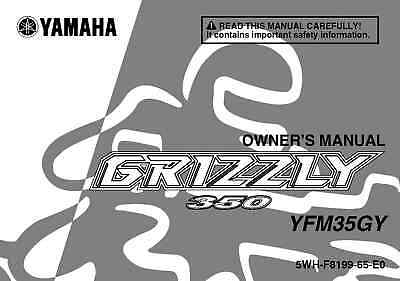 Yamaha Owners Manual Book 2009 Grizzly 350 YFM35GY
