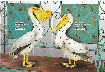 "Small Bird Statuary - PELICAN SET OF 2  22'' & 20"" REGAL ART & GIFT 11865-6"