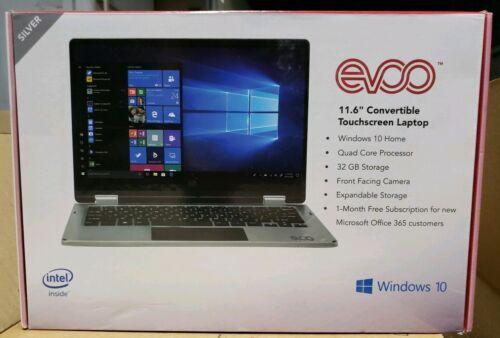 "BRAND NEW EVOO 11.6"" Convertible Touchscreen Laptop Windows"