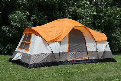 Tahoe Gear Olympia 10 Person 3 Season Tent, Orange/Ivory | TGT-OLYMPIA-10-B 3 Season Tent Tents