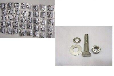 358 Pieces Grade 5 Hex Head Bolt Nut Washer Assortment Kit Coarse Thread