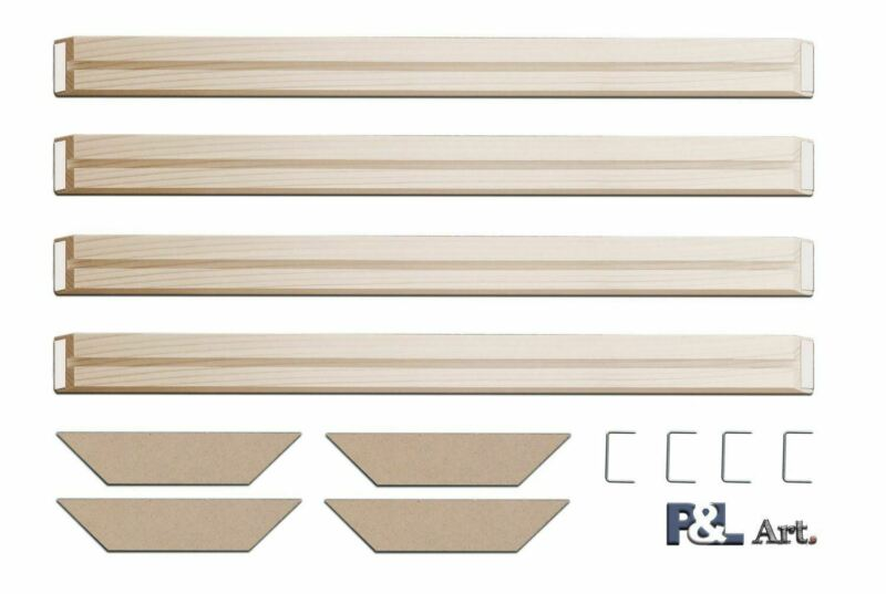 Canvas Wood Stretcher Bars Wooden Frames for Gallery Wrap Oil Painting Wall Art