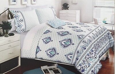 Royal Blue Comforter - Alex & Zoe Medallion , Scroll 3PC Twin XL Comforter Set-Royal Blue,Aqua
