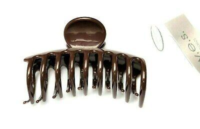 Haarkrebs Haarklammer Haarspange  Haarkralle Innenzahnung braun 3,5 x 3 cm
