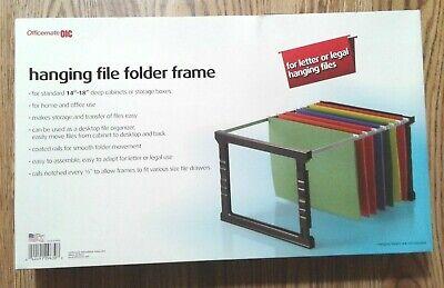 Officemate Plastic Hanging File Folder Frame, 18 Inch, Letter and Legal Size.  Hanging Framed Letter