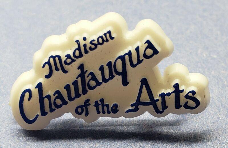 VTG. MADISON INDIANA PIN PINBACK BUTTON MADISON CHAUTAUQUA OF THE ARTS FESTIVAL