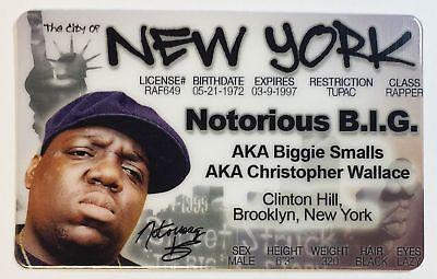 Biggie Smalls - Notorious B.I.G. - New York, Drivers License Novelty - B.i.g Halloween