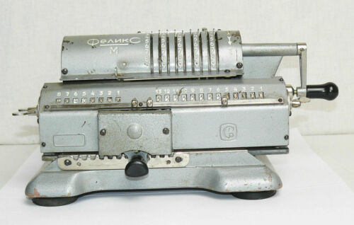 VTG Soviet Mechanical Calculator Felix M Adding Machine Russian Arithmometer