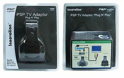 Now Play Sony Psp System Games + Movies With Innovation Psp Tv Adaptor Adapter