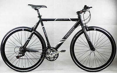 Teman Black Hybrid Bike Shimano 21 Gears Alloy Frame Bicycles 58cm