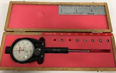 """.700/""""-1.5/"""" Dial Bore Gage .0005/"""" Accuracy Hardened Ball End Anvils Chicago Brand"""