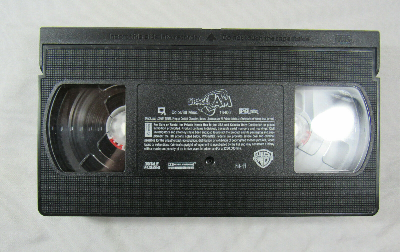 Space Jam VHS, 1997, Clam Shell Michael Jordan, Bugs Bunny, Looney Tunes - $9.99