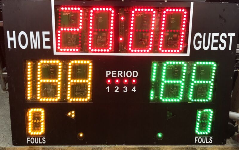 "56"" X 36"" Scoreboard Sports Athletics Games Removed From Working Environment"