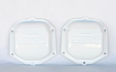 Lycoming OEM Factory - WHITE Powder Coated - 0-320 Engine Rocker Valve Cover (2)