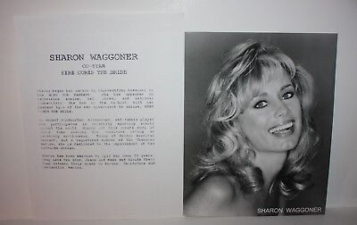SHARON WAGGONER Actress Talent Agent Issued Photos and Bio 1990's