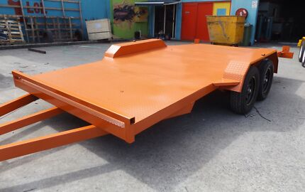 15FT BEAVER TAIL 2000KG CAR TRAILER WITH RAMPS NEW TYRES & RIMS Logan Area Preview