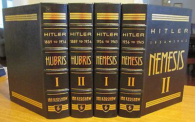 Easton Press  Hitler 1889 1945  Hubris   Nemesis  Ian Kershaw  4 Vol   Free Ship