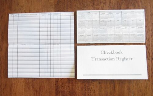 25 CHECKBOOK TRANSACTION REGISTERS CHECK BOOK  REGISTER CALENDAR 2020 2021 2022