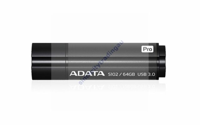 ADATA S102 PRO TITANIUM GREY 64GB 64G USB3.0 FLASH DRIVE NEW LIFETIME WARRANTY