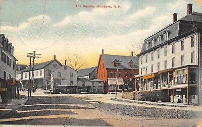Hillsboro NH Perry's Store~Boston Fruit Co~Bldgs w/Dorners~Henniker~Square (Hillsboro Stores)