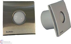 Sty100h 100mm acciaio spazzolato umidit timer for Ventola aspirazione bagno