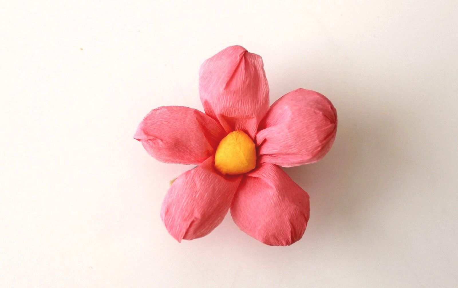 Mexican Crepe Paper Flower Hair Clip Cinco De Mayo Party Wedding