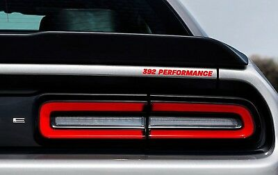 392 Performance Rear Badge Decal Dodge Challenger Charger HEMI SRT Hellcat Red