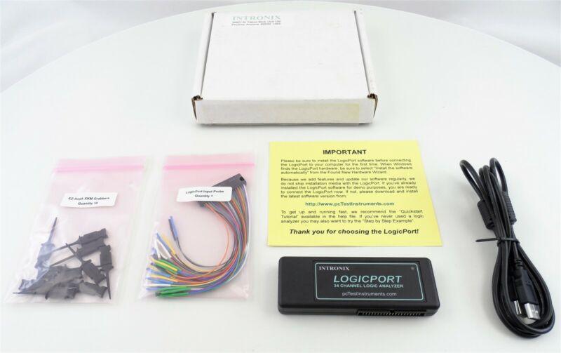 Intronix Logicport 34 Channel Logic Analyzer Used