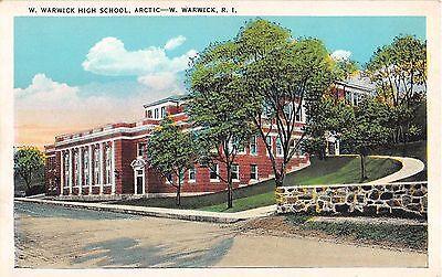 c.1920 W. Warwick High School Arctic RI post card