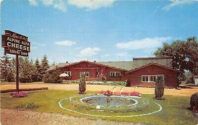 Orrville Ohio 1960s Postcard Alpine-Alpa Cheese Chalet (Alpine Stores)