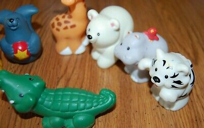 Fisher-Price Little People Zoo Animals Lot Alligator, Lion Seal, Tiger etc