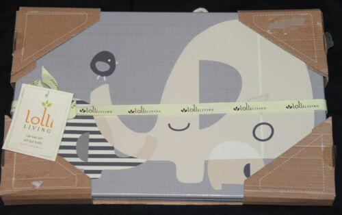 Lolli Living Naturi Elephant Canvas Art 10x15 nursery decor new