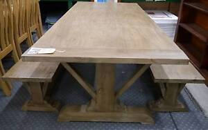 RRP.$1695 New Vintage Provincial Rustic Timber Dining Settings Melbourne CBD Melbourne City Preview
