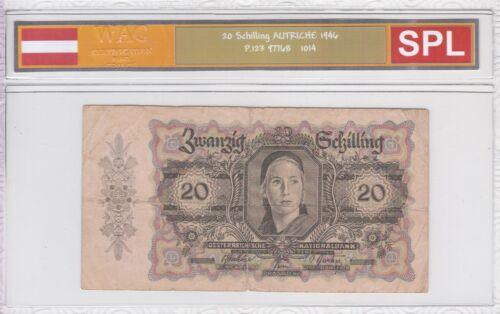 Ticket From 20 Schilling 1946 Austria Spl