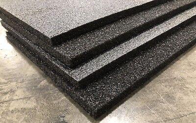 4 Sheets - 48x12 X 12 Polyethylene Plank Foam Density 1.7pcf Black