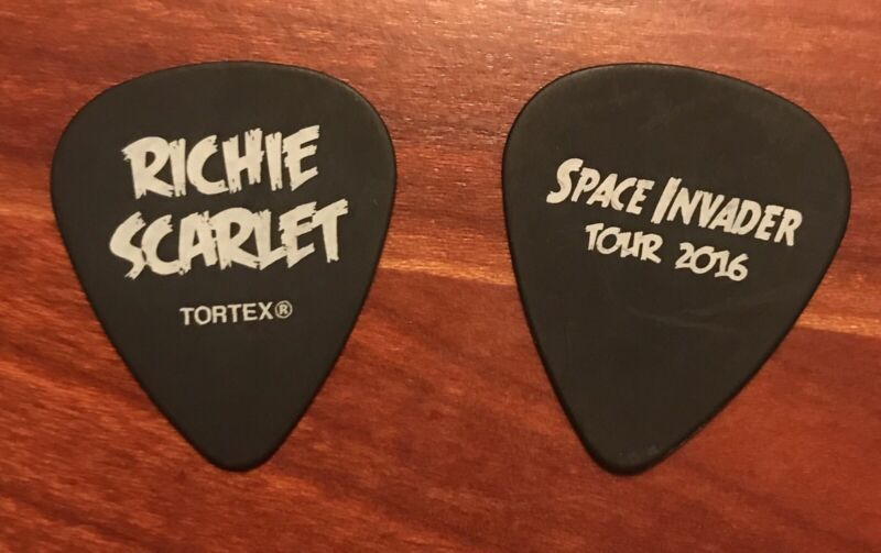 Richie Scarlet Guitar Pick Space Invader Tour 2016