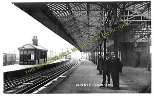 Aintree Railway Station Photo. Liverpool - Maghull. Lancashire & Yorkshire Rly