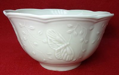 Butterfly Meadow Leaf - LENOX china BUTTERFLY MEADOW LEAF pattern Rice Dessert Fruit Soup Bowl 5-3/4