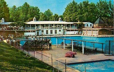 C1950s Municipal Swimming Pool  High Point  North Carolina Postcard