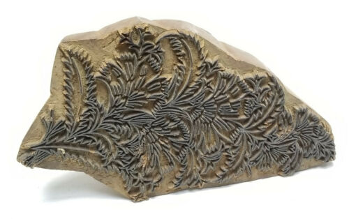 VINTAGE INDIAN HAND CARVED TEXTILE WOODEN HAND BLOCK PRINT STAMP ~ 8""