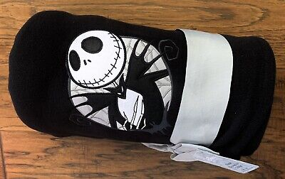 New w/Tag Jack Skellington Fleece Throw Blanket The Nightmare Before Christmas