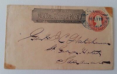 1916 Company WELLS FARDO & Co. Prefranked Cover c.3-R799 segunda mano  Embacar hacia Argentina