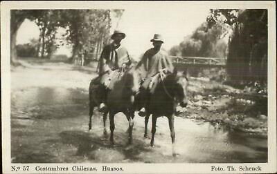 Usado, Chile Costumbres Chilenas Huasos Santigo Written on Back RPPC Postcard comprar usado  Enviando para Brazil