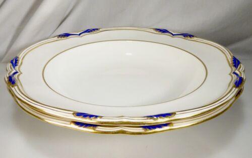 Minton Tiffany & Co. Baccleuch 2 Rim Soup Bowls Plates - 58079