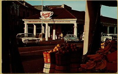 The Morning Call Coffee Shop Street View Old Cars New Orleans La Postcard B11