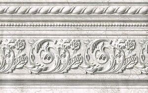 Victorian silver sheen light embossed 5 1 8 crown molding wallpaper border wall - Crown molding wallpaper ...